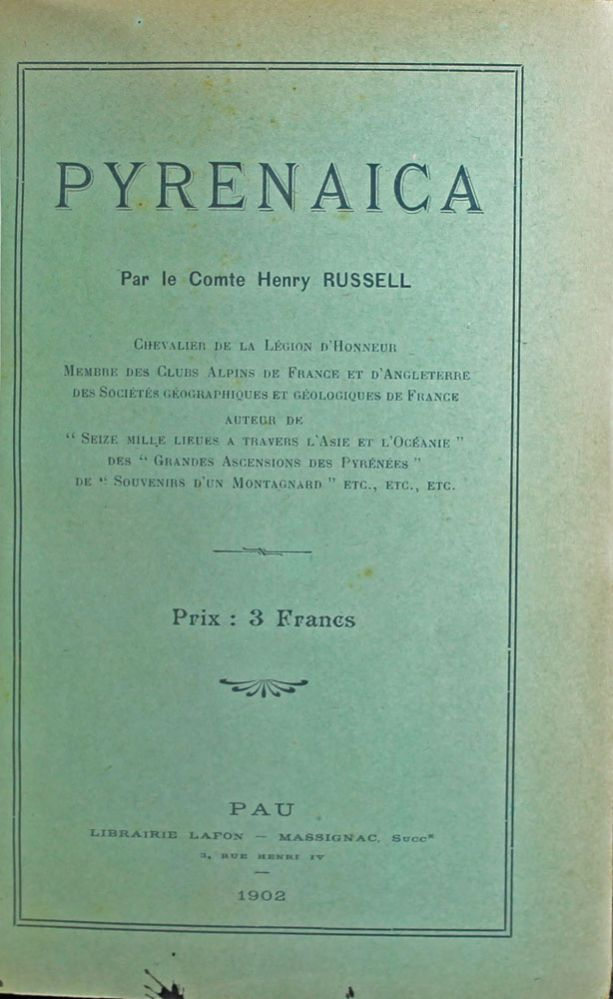 Pyrenaica. Henry RUSSELL.
